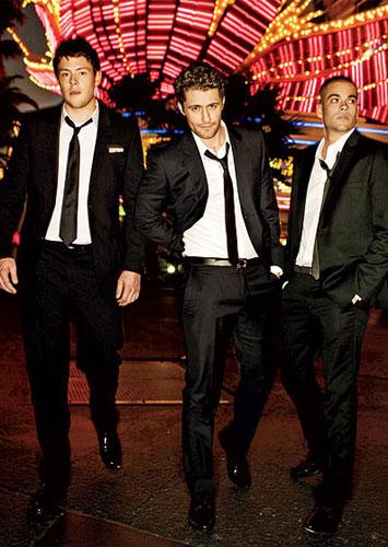 Cory Monteith, Matthew Morrison, and Mark Salling of Glee