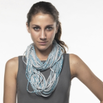 Necklush Light Grey with Teal Print on Moxsie
