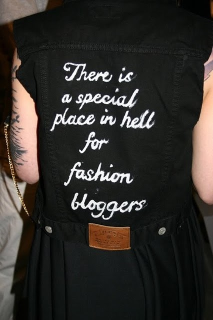 Farrah Sabado There is a special place in hell for fashion bloggers.