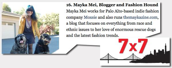 Mayka Mei 7x7 Magazine Hot 20 Under 40