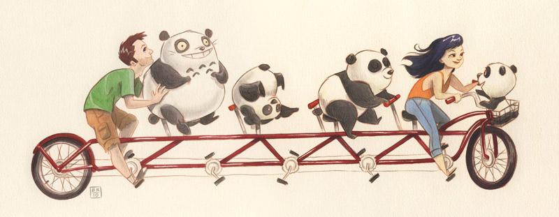 FlimFlammery Bill Robinson Tandem Pandas