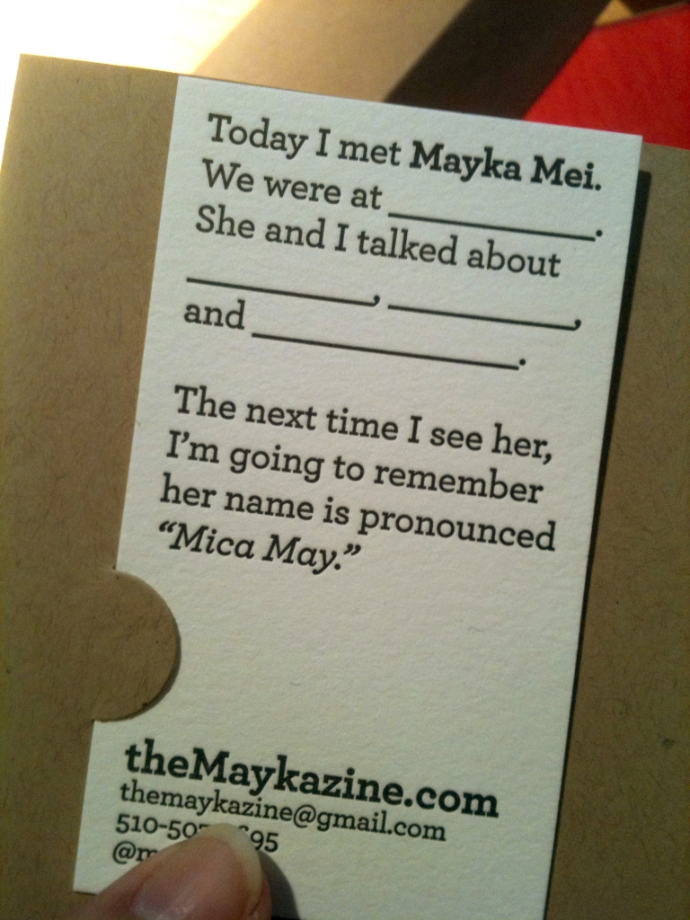 Mayka Mei The Maykazine Mandate Press Letterpress