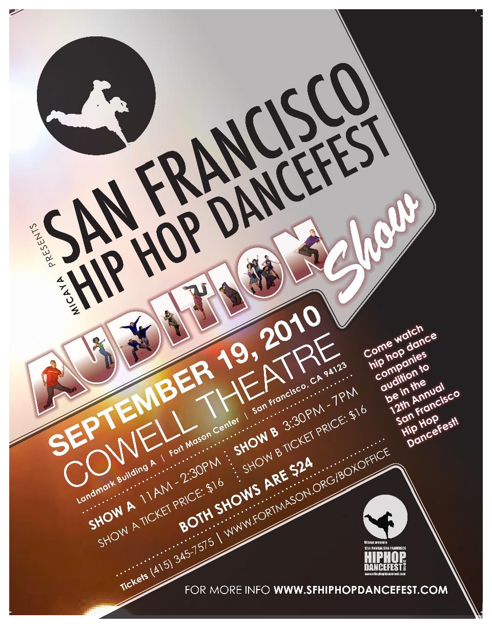 San Francisco Hip Hop DanceFest Audition Show