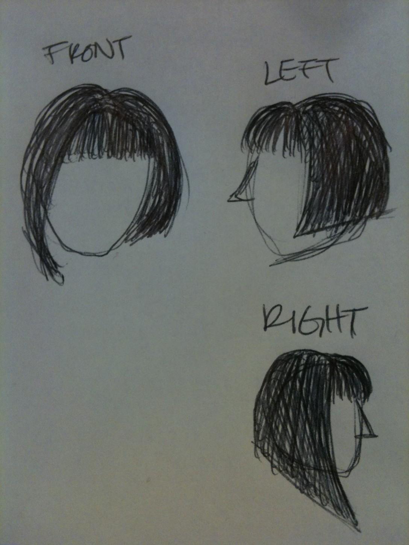 Mayka Mei Olivia Totten hair sketch