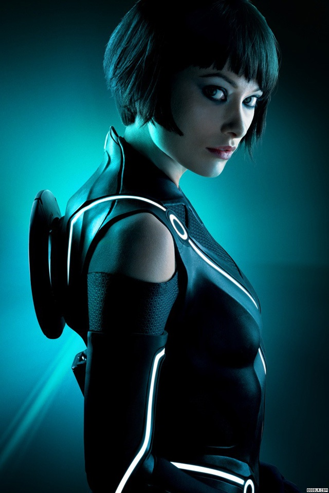 Tron: Legacy Olivia Wilde iPhone Wallpaper Forget the compressed boobs,