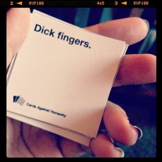 Dick fingers win every time.