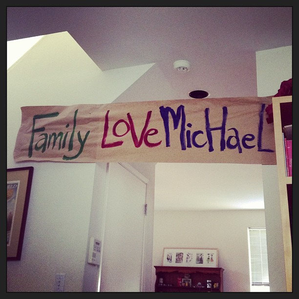 Look at banner, Michael!