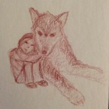 #sketch_dailies II! (For me, anyway.) The theme is #bigbadwolf, I love #bigdogs, and I decided to attempt a cuddly wolf. Partially inspired by the huge wolf-husky mix @isaacorloff @flimflammery and I met at #sketchcrawl. Mostly inspired by wanting to hug the biggest dogs in the world. ALL OF THEM. (#nofilter because pencil)